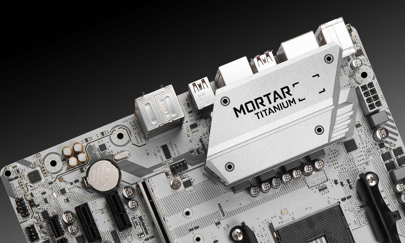 MSI B450M Mortar Titanium Jakość która nigdy nie zawiedzie