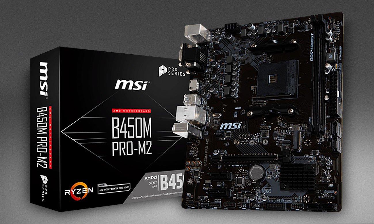MSI B450M Pro-M2 Stylowa i nowoczesna płyta główna