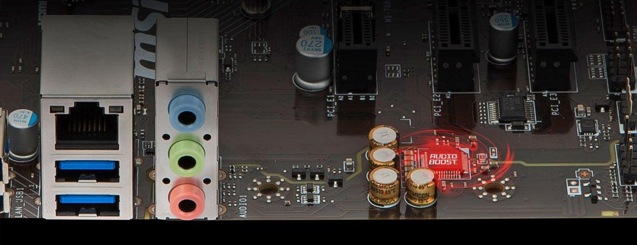 MSI B450M Pro-M2 Dźwięk wciągający do gry