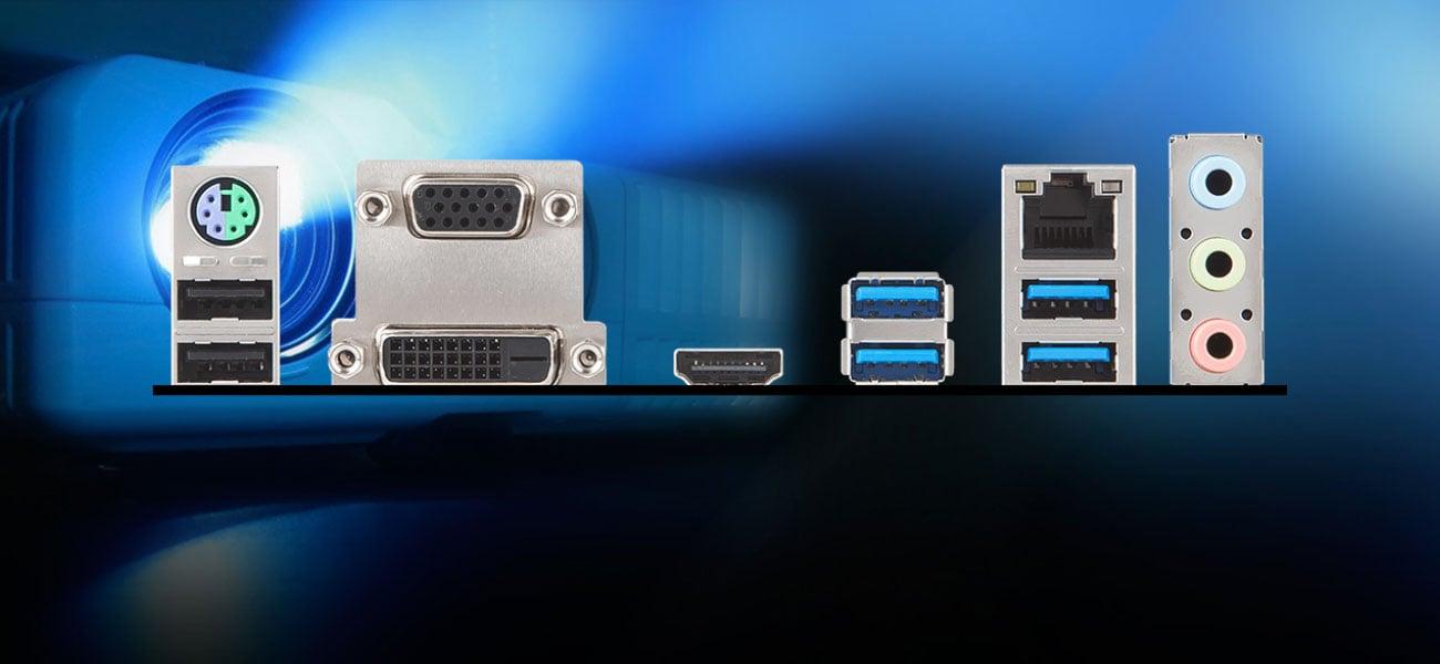 MSI B450M Pro-M2 Niezbędne złącza wideo