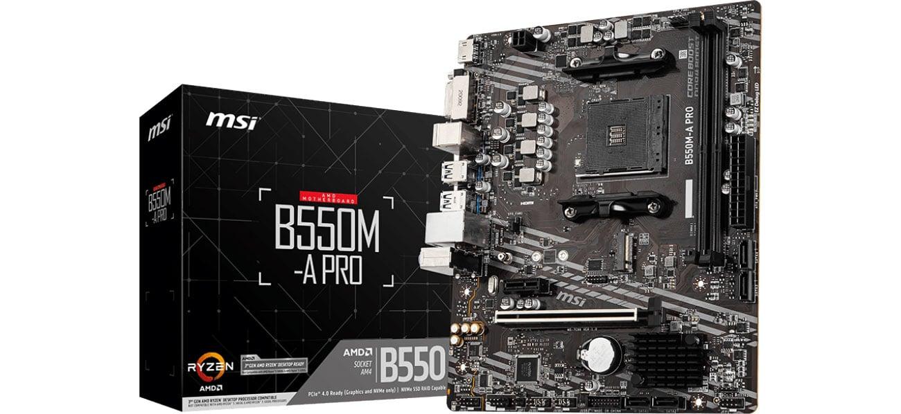Płyta główna Socket AM4 MSI B550M-A PRO