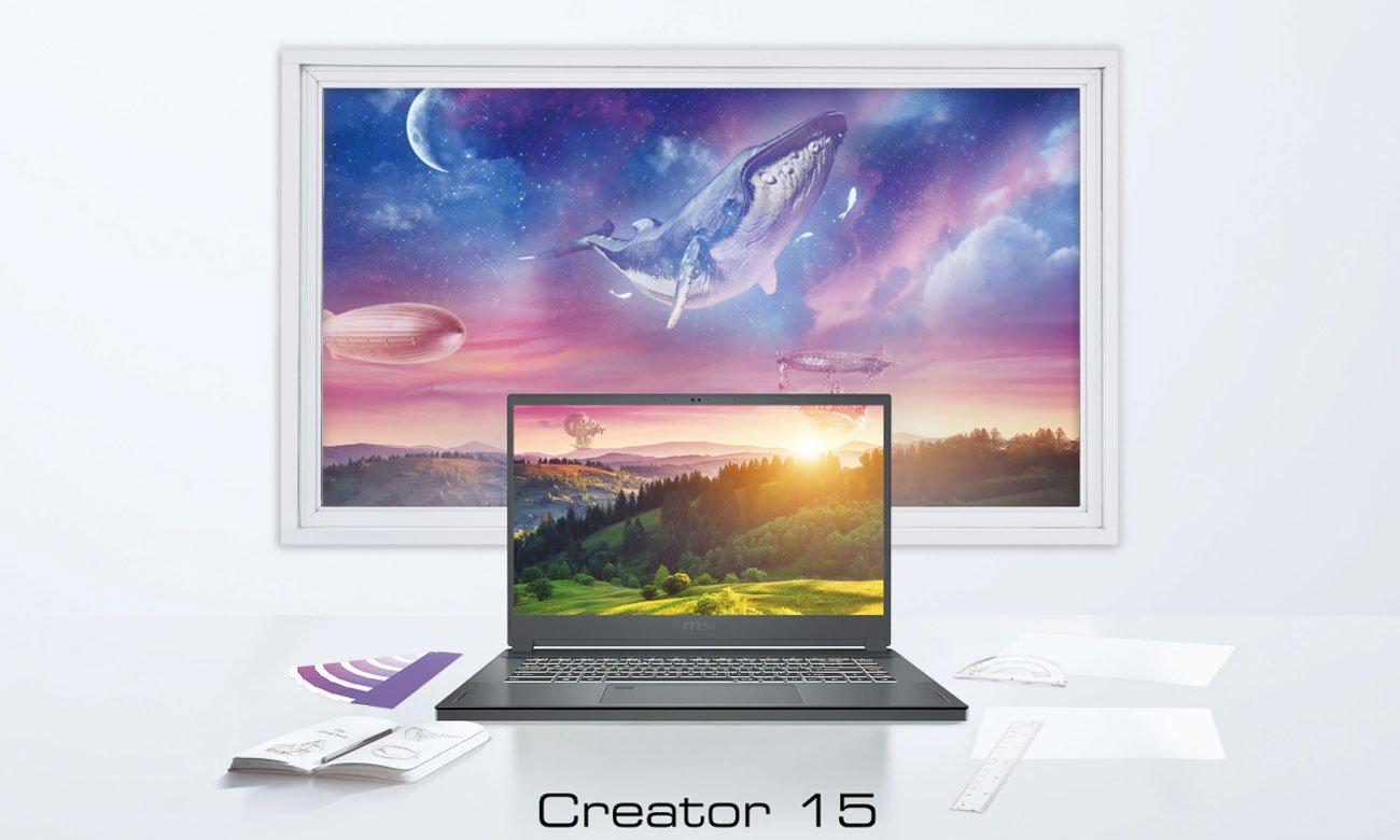 Laptop do projektowania graficznego MSI Creator 15