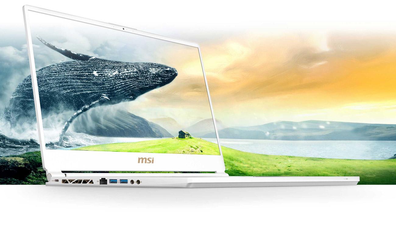 MSI P65 Creator 8RE Perfekcyjny ekran do wyświetlania obrazów