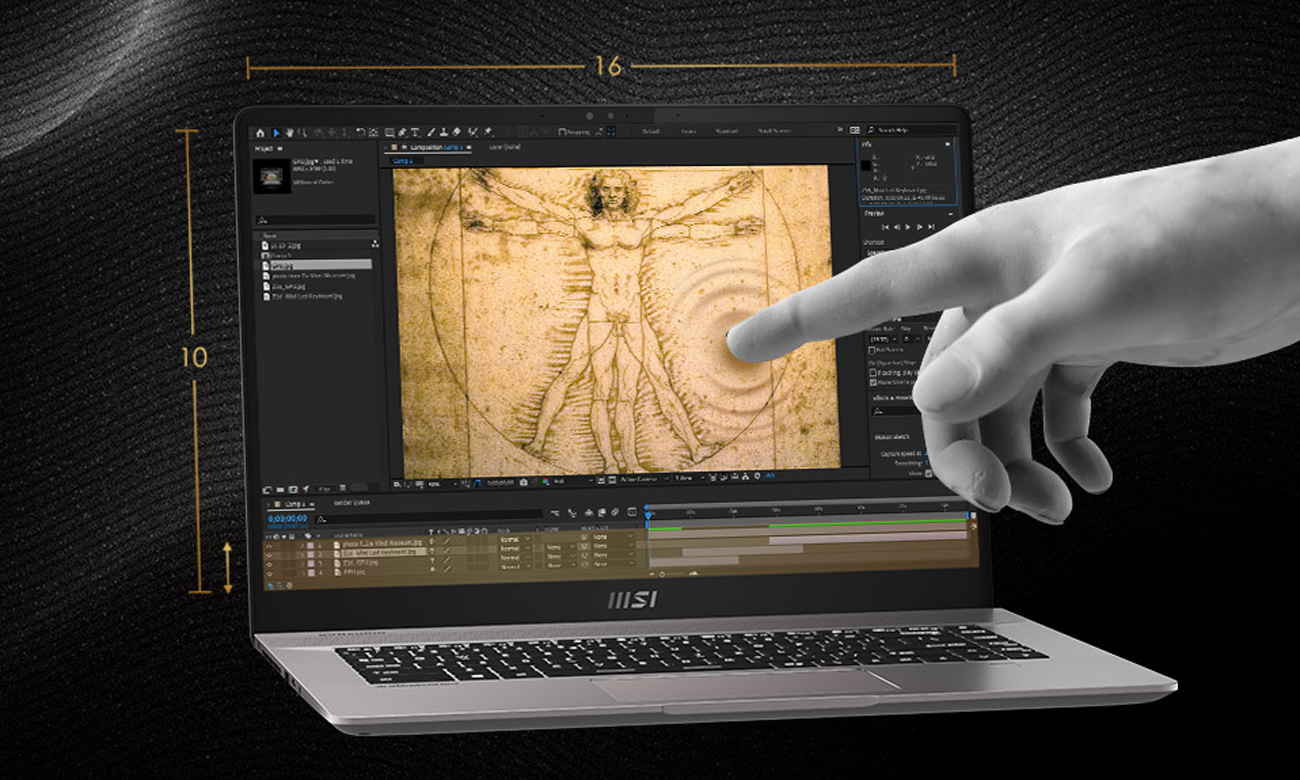 Ekran z dotykową matrycą