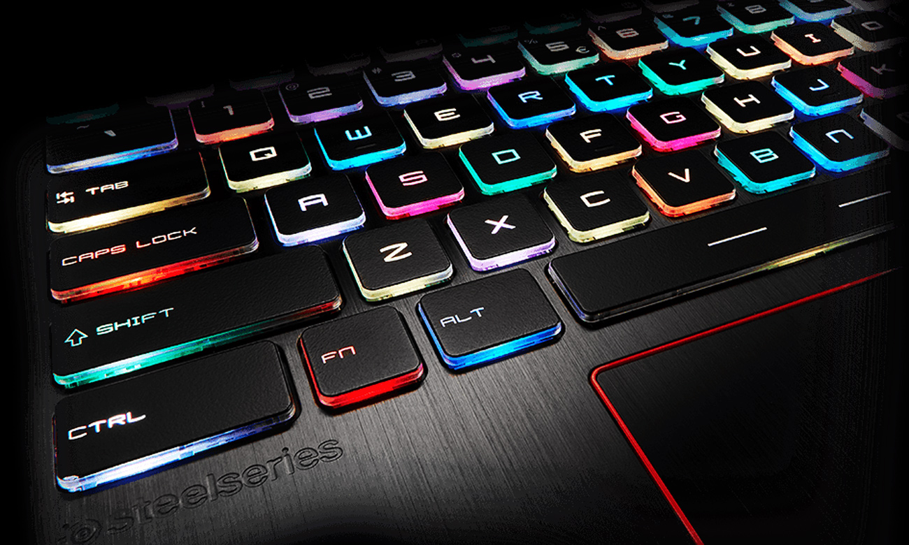 MSI Raider GE73 7RD podświetlana klawiatura SteelSeries