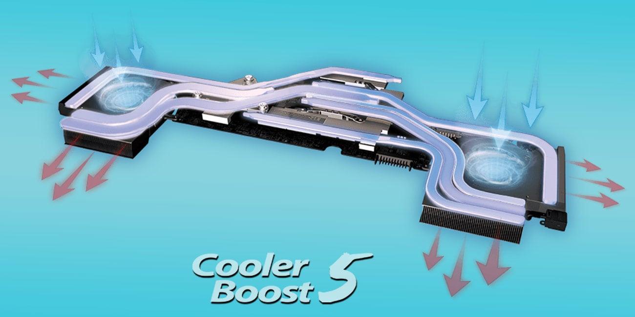 MSI GE73VR 7RE wydajny układ chłodzenia