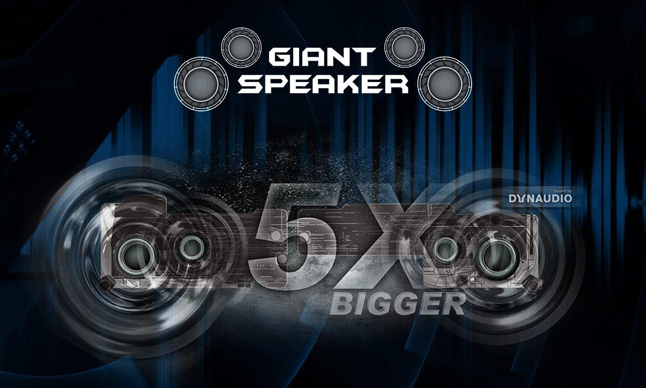 MSI Raider GE73 7RD głośniki Dynaudio