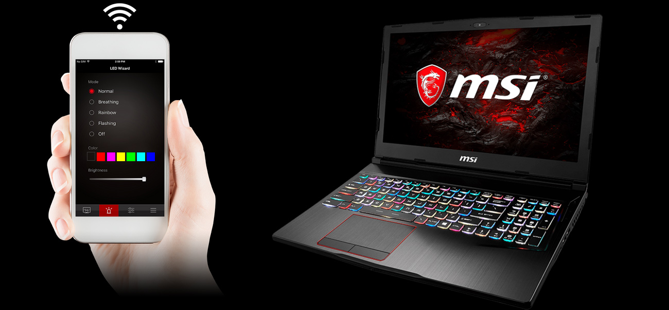 MSI GE73VR 7RE Dragon Center