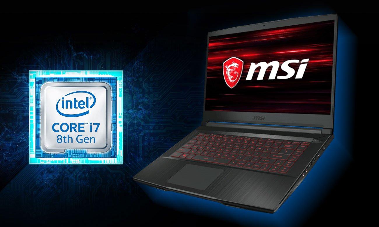 MSI GF63 8RD Procesor Intel Core i7 ósmej generacji