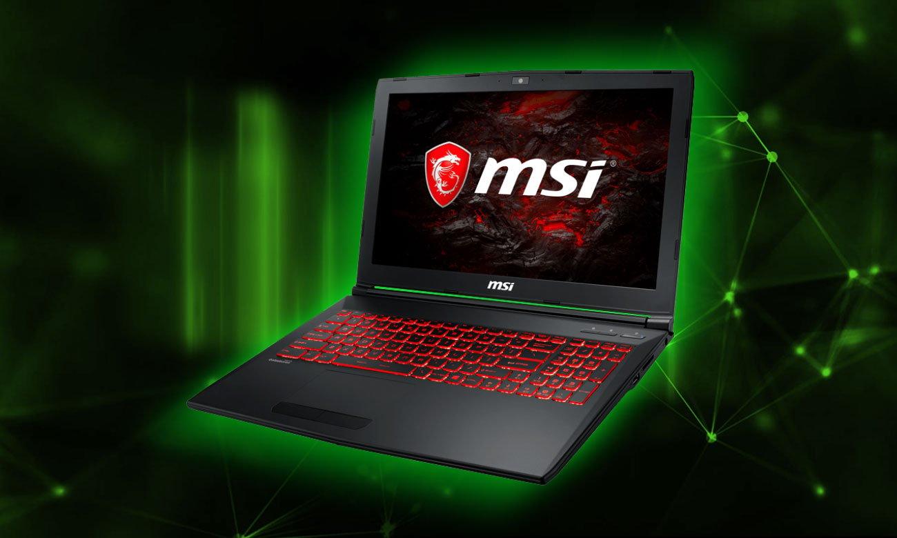 MSI GL62MVR 7RFX Mistrzowski gaming z GeForce GTX 1060
