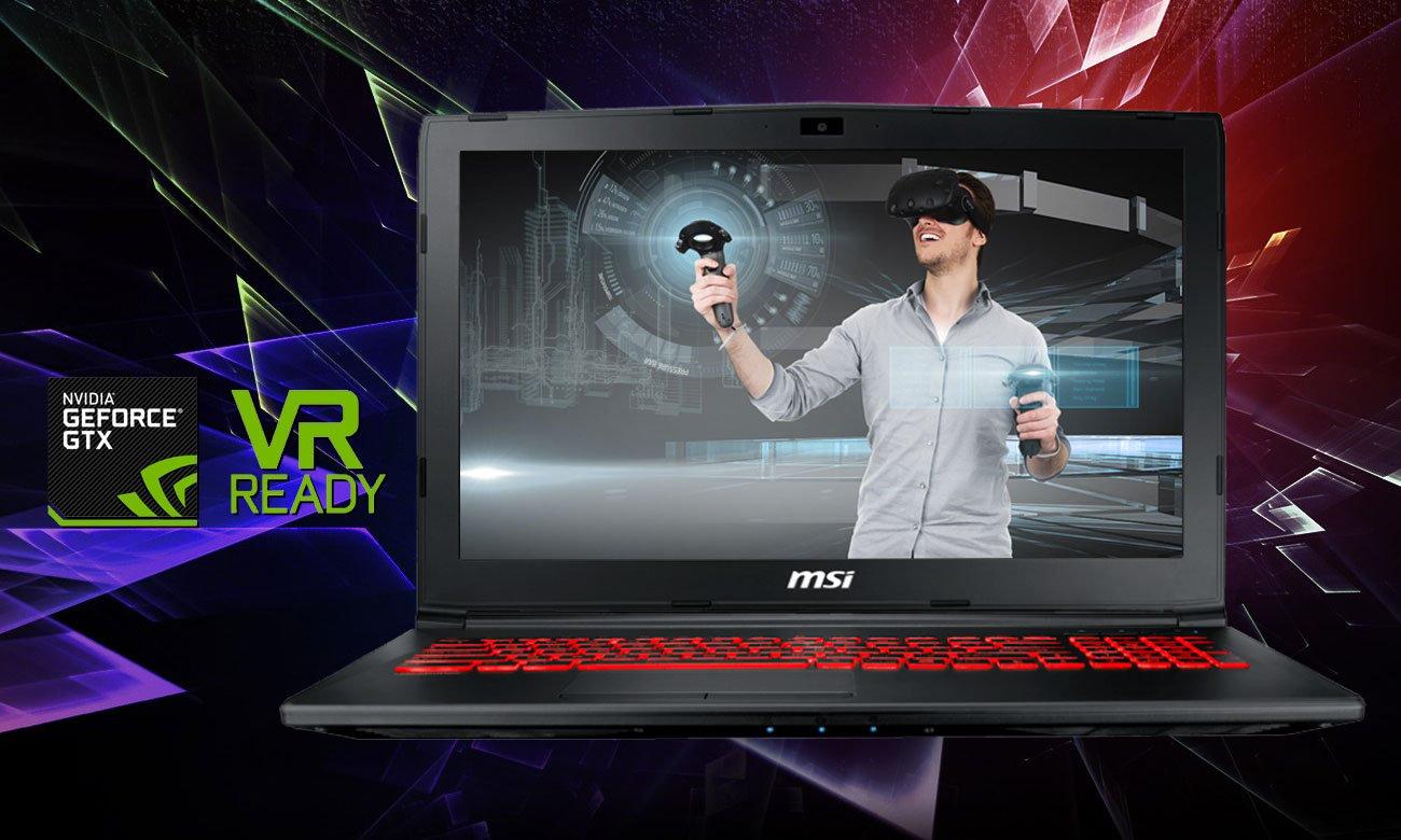 MSI GL62MVR 7RFX Rozrywka w rzeczywistości wirtualnej