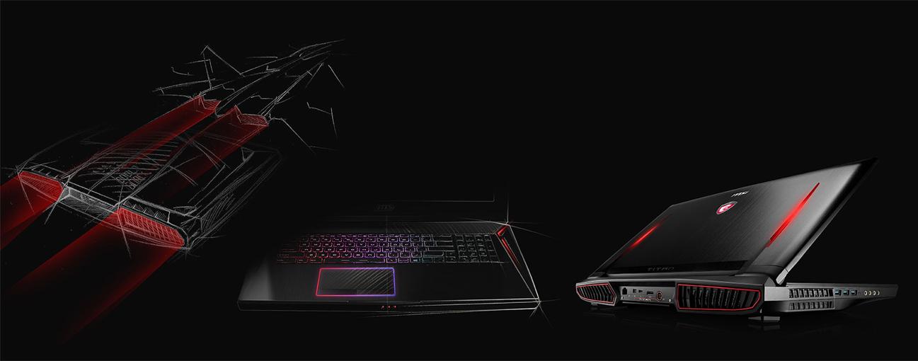 Laptop Gamingowy MSI GT73EVR technologia SLI wytrzymałe materiały smukły wydajny