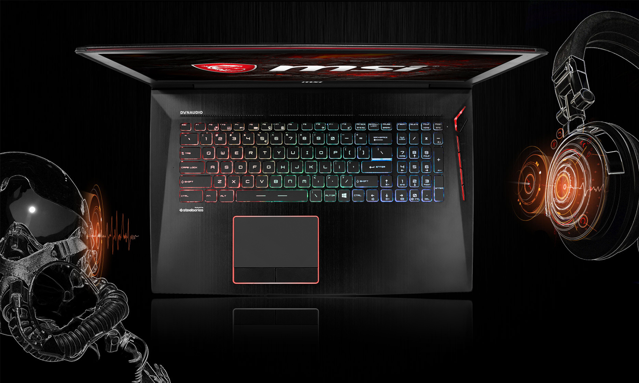 Laptop Gamingowy MSI GT73EVR nahimic virtual surround sound wojskowa technologia