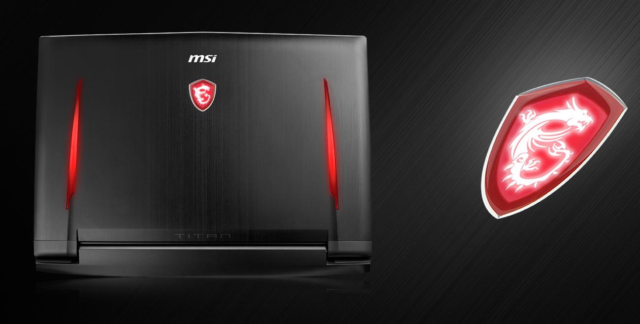 Laptop Gamingowy MSI GT73EVR emblemat logo twardość