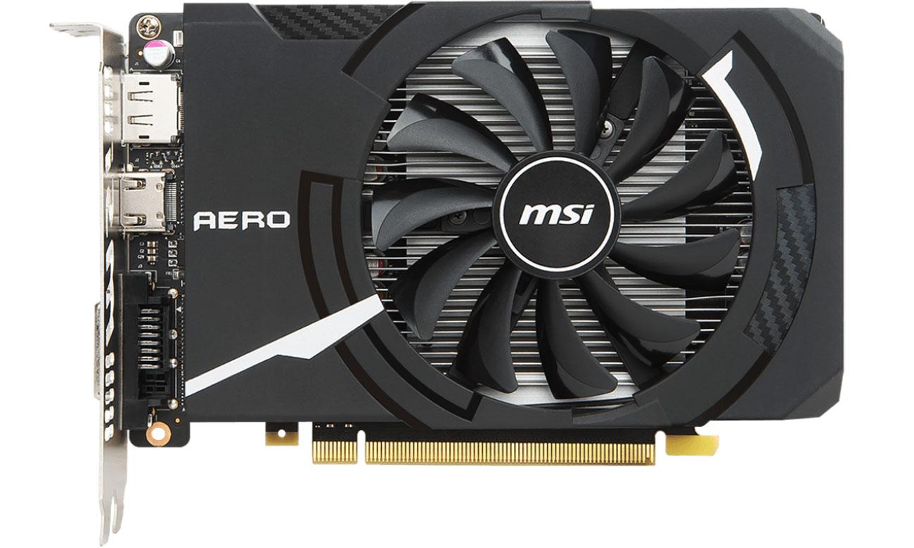 GeForce GTX 1050 AERO ITX OC V1 2GB Niewielkie rozmiary, wielkie uderzenie