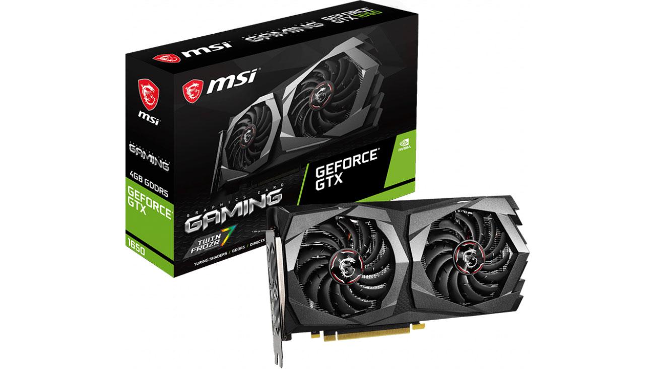 Karta graficzna NVIDIA MSI GeForce GTX 1650 GAMING 4G GDDR5