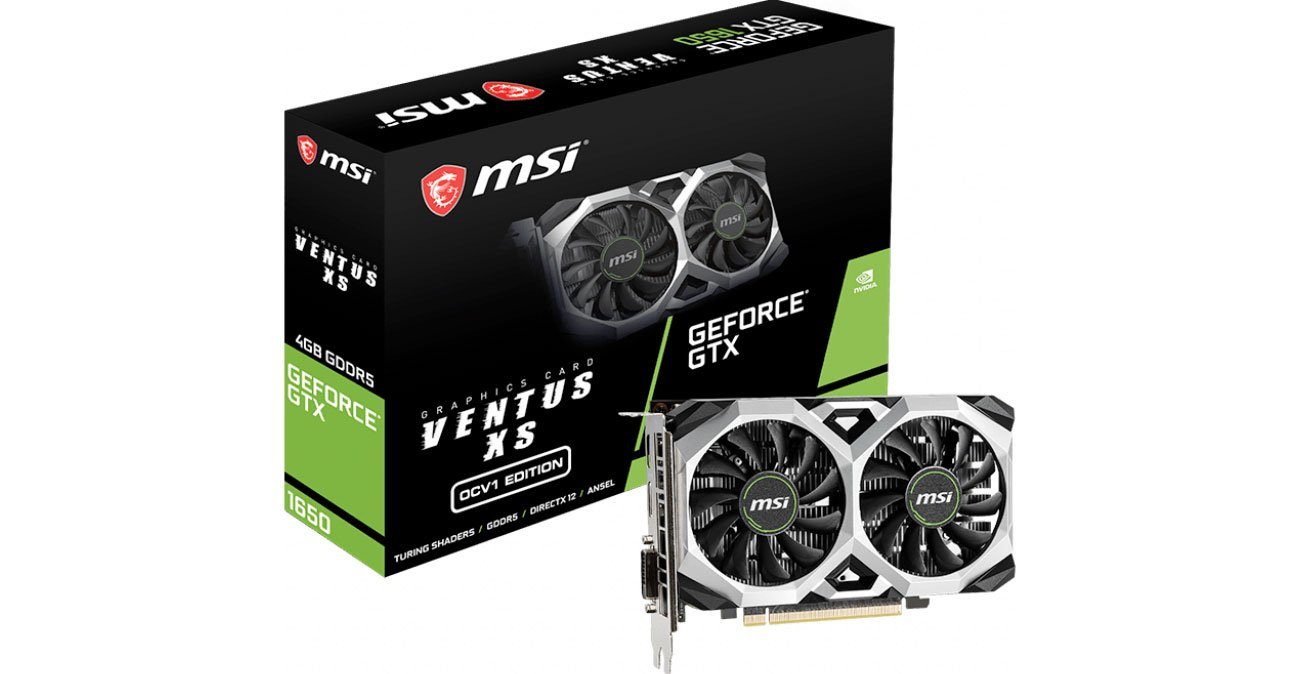 Karta graficzna NVIDIA MSI GeForce GTX 1650 VENTUS XS OCV1 4GB GDDR5