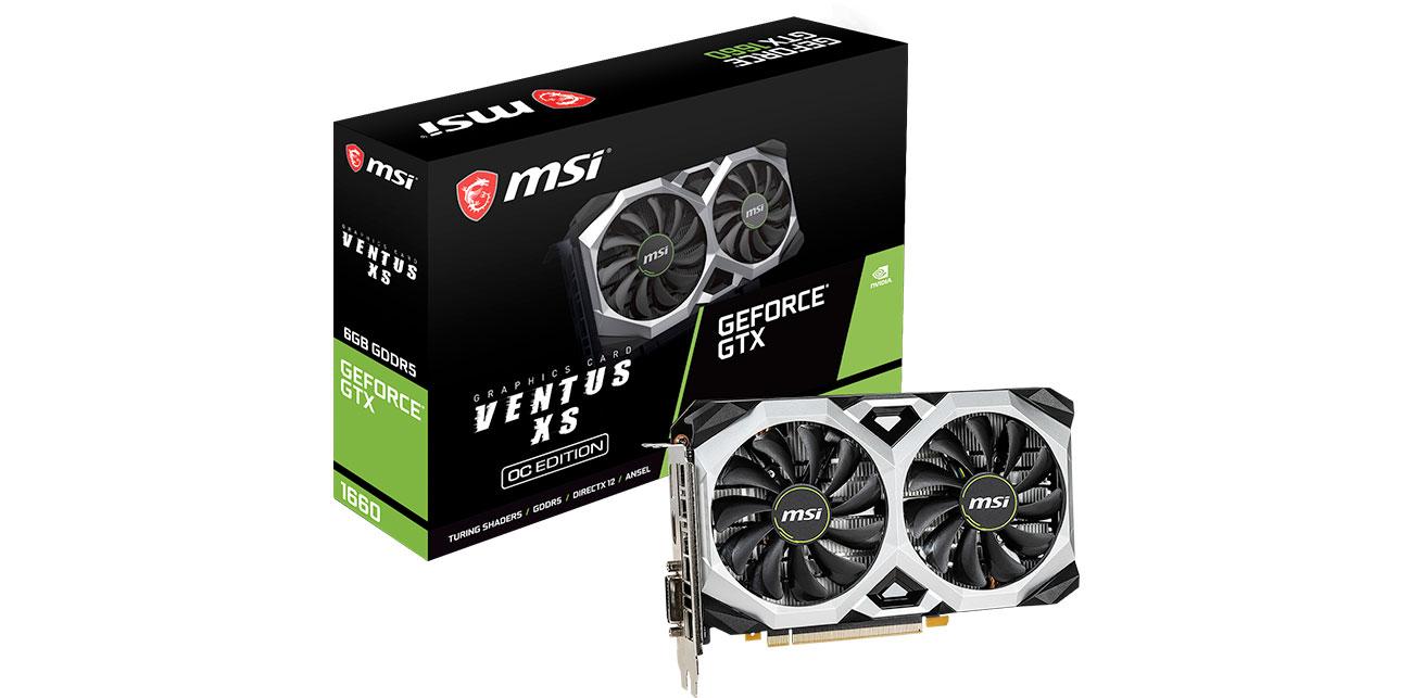 Karta graficzna NVIDIA MSI GeForce GTX 1660 VENTUS XS OCV1 6GB GDDR5 GTX 1660 VENTUS XS 6G OCV1