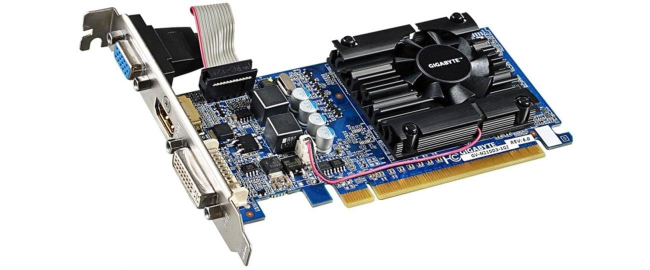 Karta graficzna MSI GeForce GT210 1024MB 64bit Silent Low Profile wydajne chlodzenie