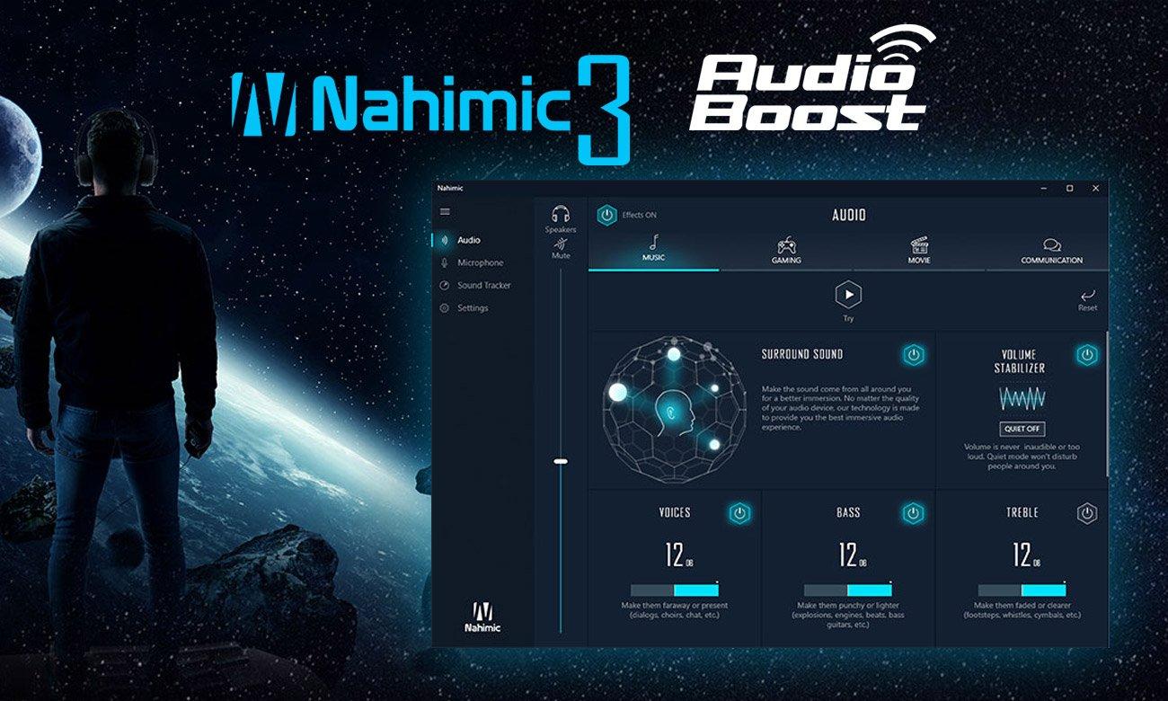 MSI GV62 8RC Technologie dźwiękowe Nahimic 3 i Audio Boost