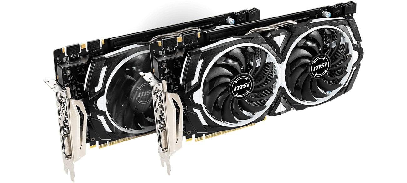 MSI GeForce GTX 1060 ARMOR 6GD5X OC Dwa wentylatory
