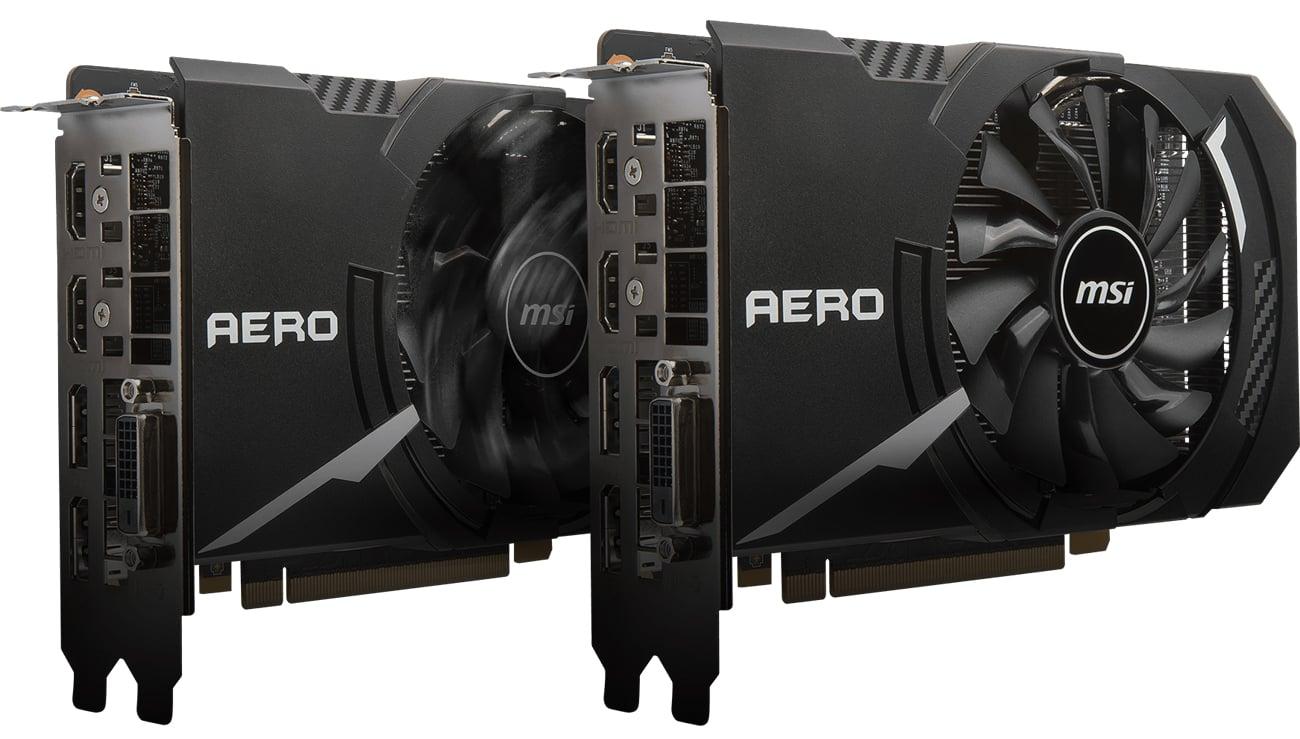 MSI GeForce GTX 1060 Aero ITX OC Wentylator TORX