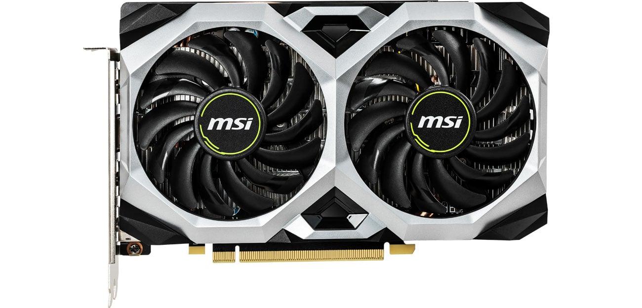 MSI GeForce GTX 1660 VENTUS XS OC Wentylatory