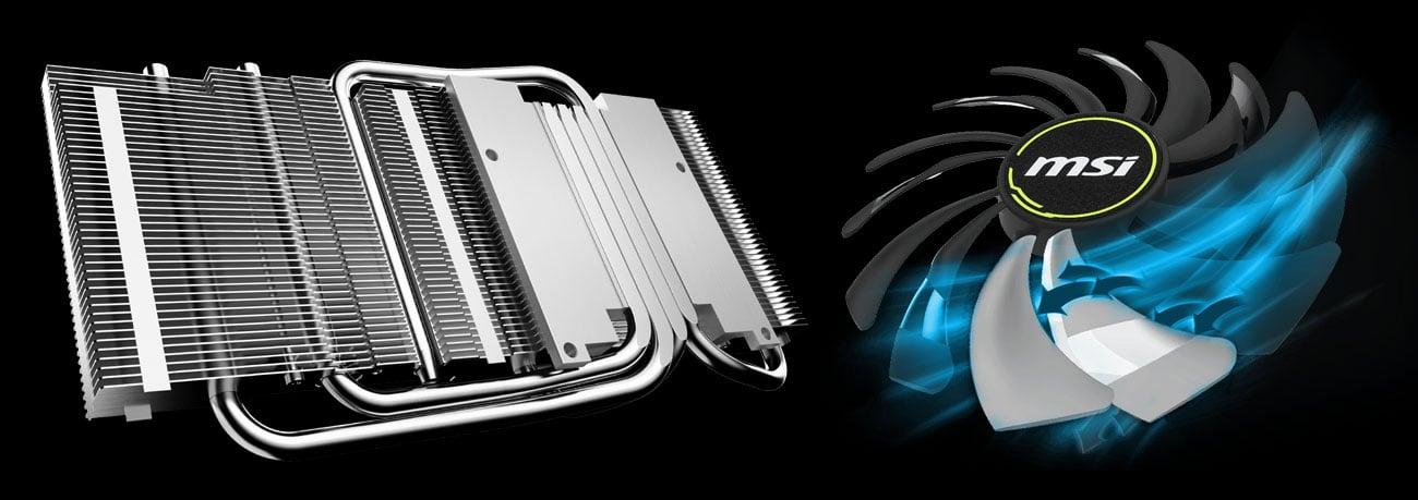MSI GeForce RTX 2060 VENTUS OC Chłodzenie