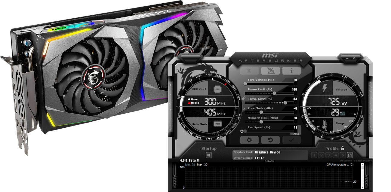 MSI GeForce RTX 2070 GAMING X Mystic Light Afterburner