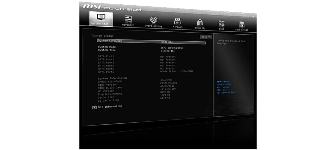 MSI H170A PC MATE BIOS