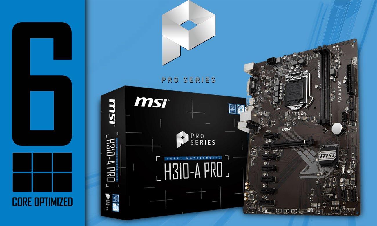 MSI H310-A PRO Zoptymalizowana pod kątem wydobywania kryptowalut