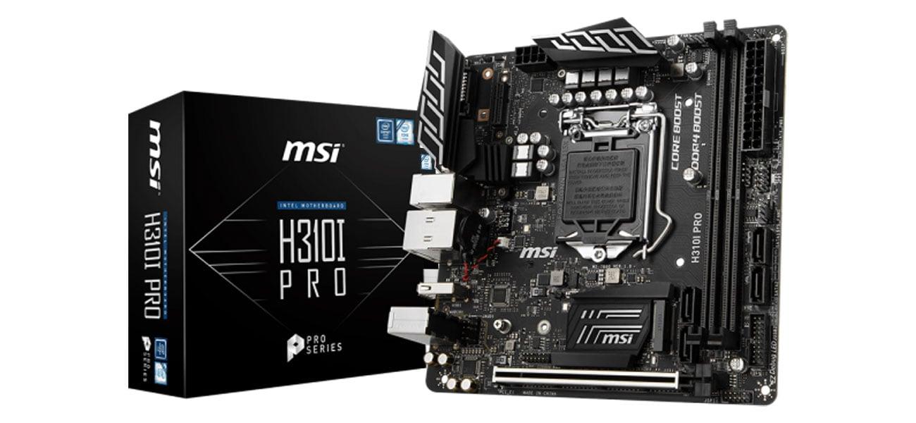 MSI H310I PRO Połączenie jakości, wydajności i rozwiązań biznesowych