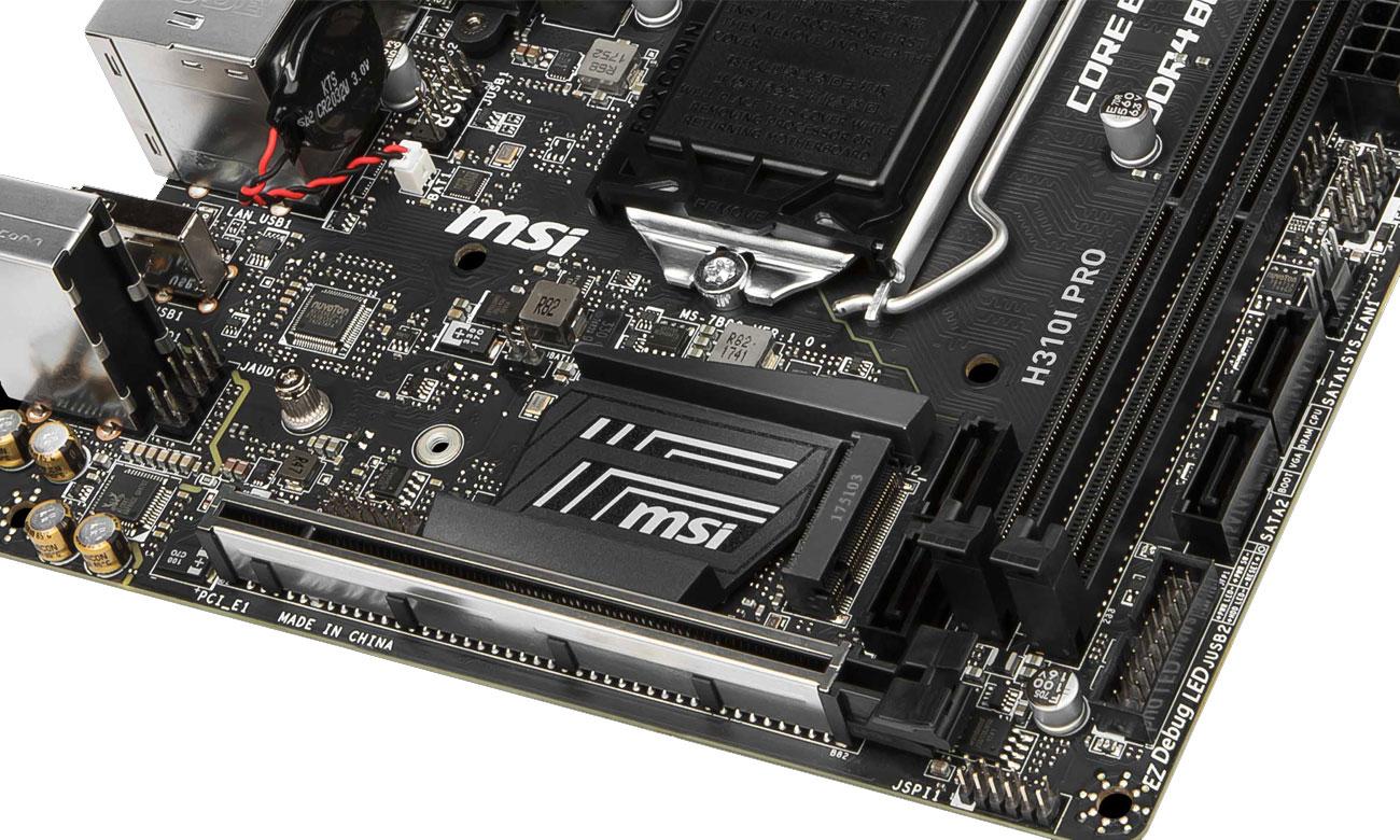 MSI H310I PRO Złącze M.2