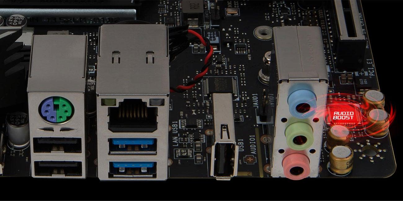 MSI H310I PRO Profesjonalna jakość dźwięku