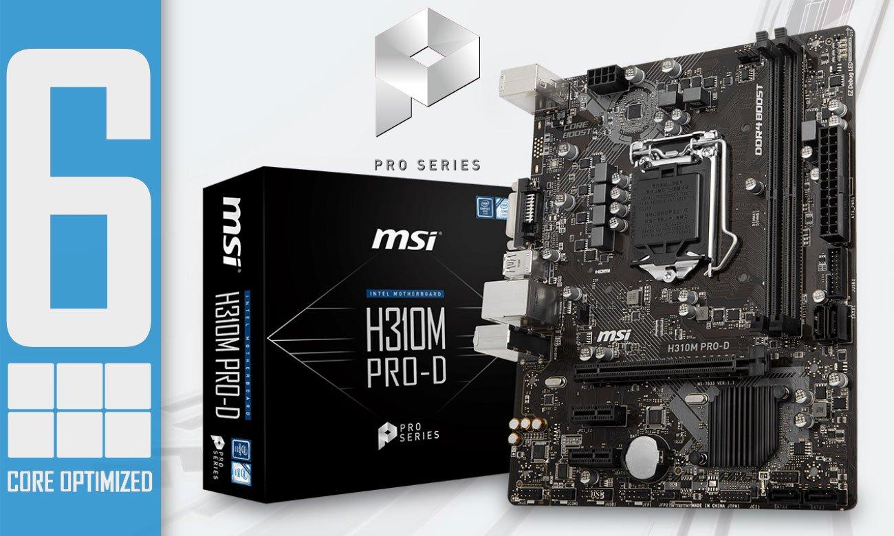 MSI H310M PRO-D Połączenie jakości z najwyższą wydajnością