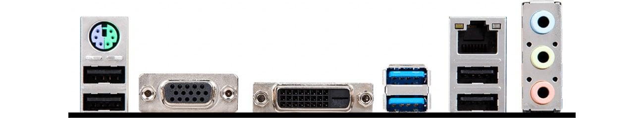 MSI H310M PRO-VD PLUS Złącza zewnętrzne