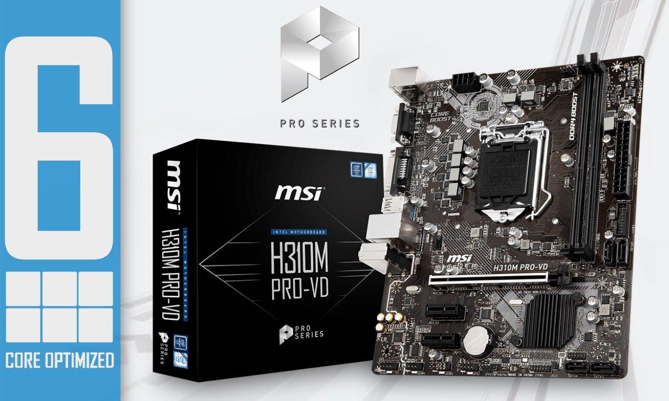 MSI H310M PRO-VD Połączenie jakości z najwyższą wydajnością