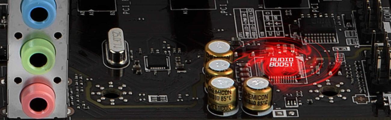 MSI H310M PRO-VD System Audio Boost Profesjonalna jakość dźwięku