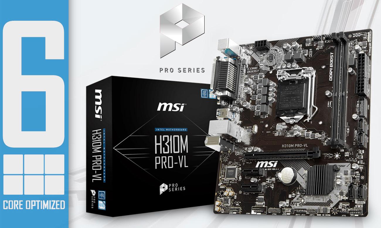 MSI H310M PRO-VL Połączenie jakości z najwyższą wydajnością