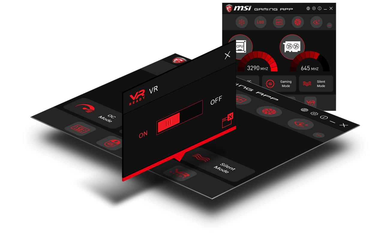 MSI H370 Gaming Plus Swobodne generowanie wirtualnej rzeczywistości VR Ready