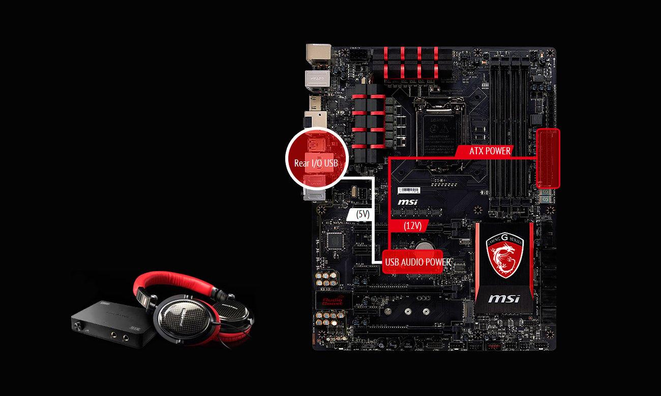 MSI H97 GAMING 3  USB Audio Power