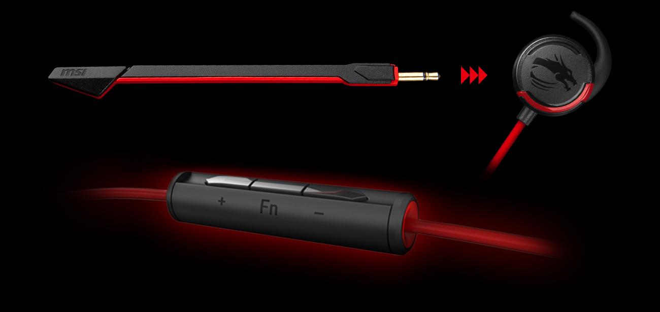 MSI Immerse GH10 wygodna konstrukcja mikrofon