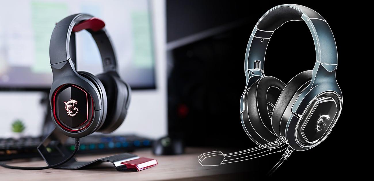 Słuchawki MSI Immerse GH50 składana konstrukcja\