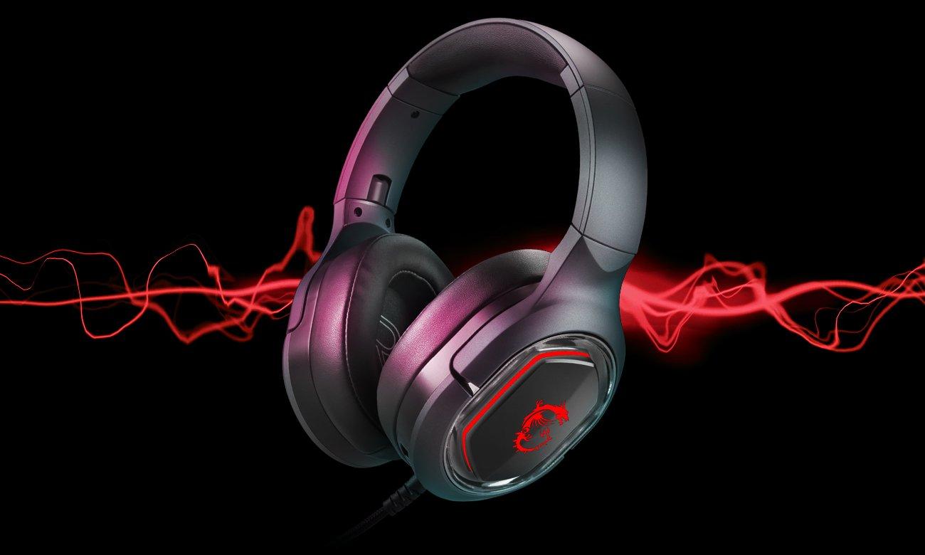 Słuchawki MSI Immerse GH50 podświeltenie RGB