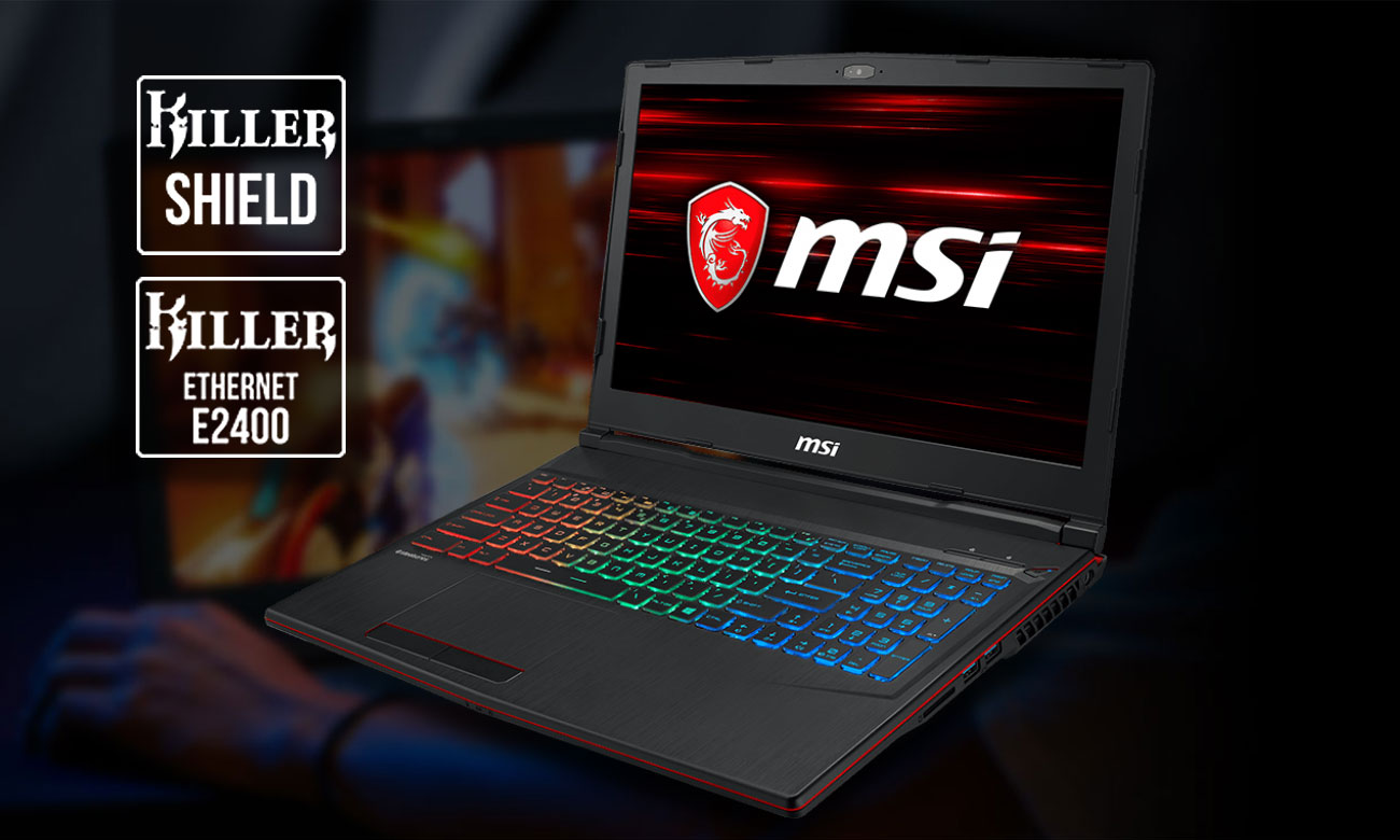 MSI GP63 Leopard 8RE Killer Gaming LAN, Killer Shield