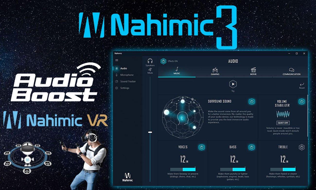 MSI GP73 Leopard 8RE Nowa technologia dźwiękowa Nahimic 3, dźwięk 3d