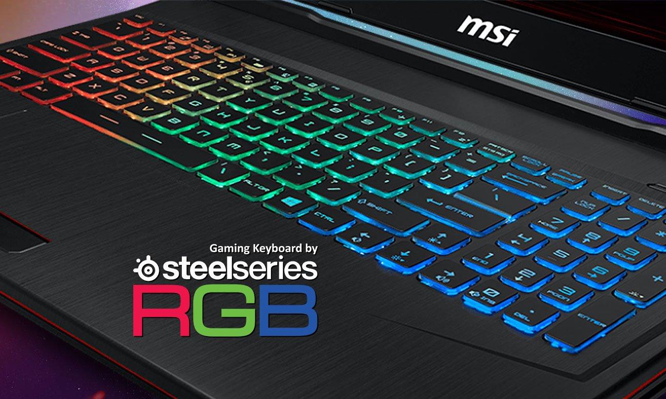 MSI GP73 Leopard 8RE Gamingowe, wielokolorowe podświetlenie klawiatury