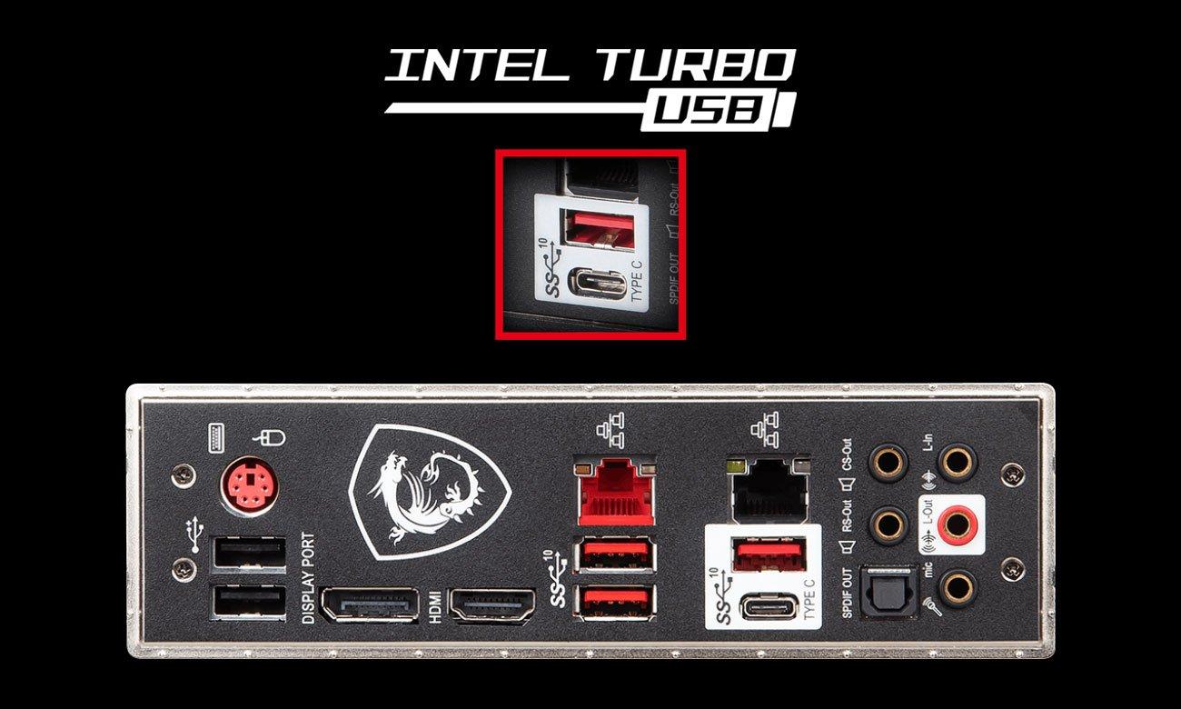 MSI MAG Z390 TOMAHAWK Szybka łączność USB