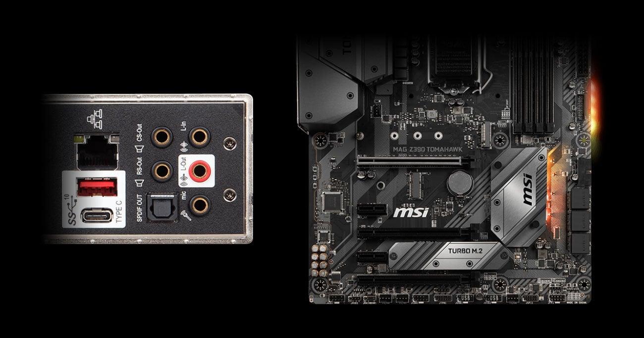 MSI MAG Z390 TOMAHAWK Świetna jakość audio