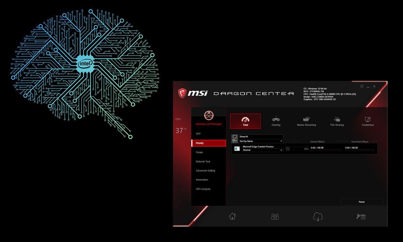 MSI MAG Z390M MORTAR Łączność LAN